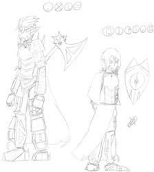 Axle and Miera by Draezeth