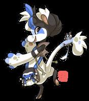 118 - Blue Face Jumping Spider by TheKingdomOfGriffia