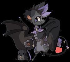 197 - Black Flying Fox by TheKingdomOfGriffia