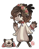 950 - Siamese Coffeecat by TheKingdomOfGriffia