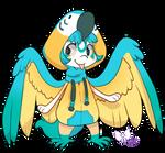 478 - Blue throated macaw by TheKingdomOfGriffia
