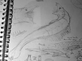 Predatory endochord Artemid by Feath3rFace