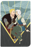 The Lovers - Niamh Lavellan and Cullen Rutherford by river-bird