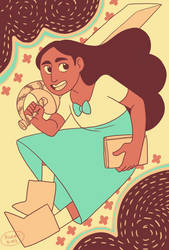 Connie by river-bird