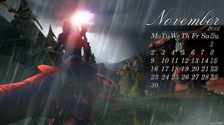 Dota 2 - 2015 Calendar - 11.November by sheron1030
