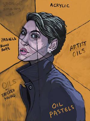 Coatgirl - Painter Brushmessing by Destro7000