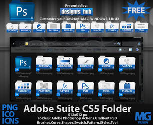 Free Set of Adobe Photoshop Suite CS5 Folder Icons by MGraphicDesign