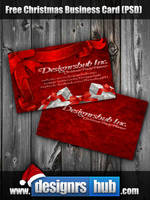 Free Christmas Business Card Template PSD by MGraphicDesign