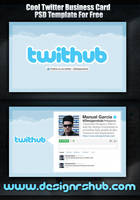 Cool Twitter Business Card PSD Template For Free by MGraphicDesign