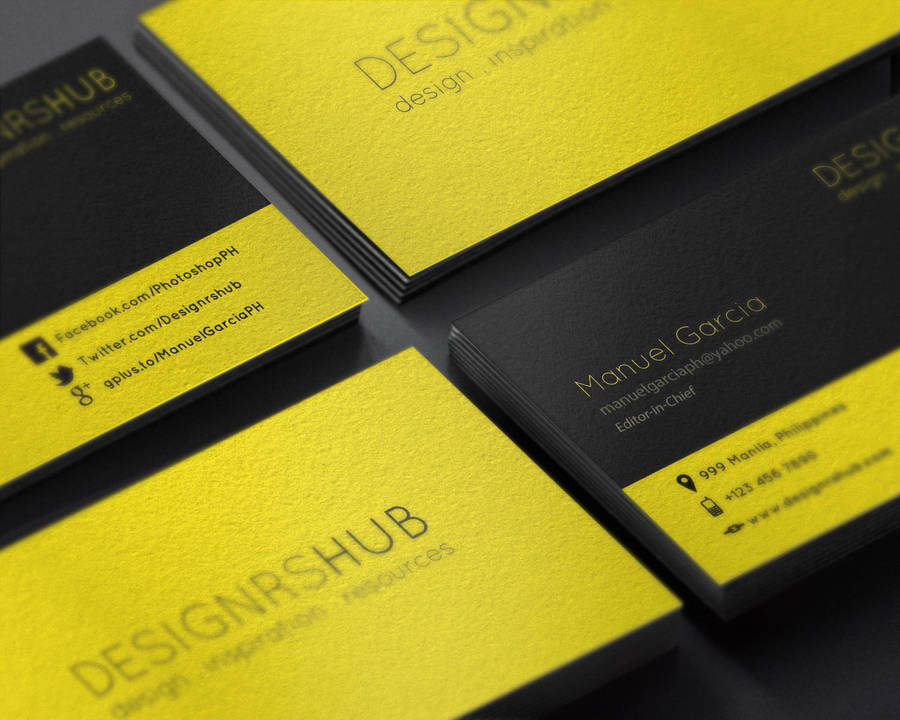 Free Minimal Business Card Design PSD Template by MGraphicDesign