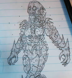 Armored female Zed doodle by Cisper97