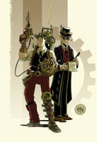 Steampunk Duo by mikemaihack