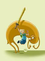 Finn and Jake by mikemaihack