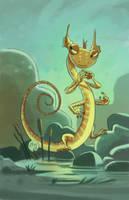 Salamander Snoop by mikemaihack