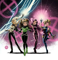 80s X-Girls by mikemaihack