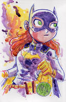 Watercolor: Batgirl by mikemaihack