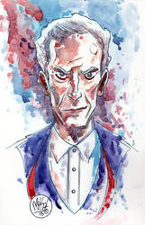 Watercolor: The 12th Doctor by mikemaihack