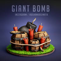Giant Bomb from Clash of Clans by roshankasinath