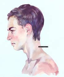 Male Head Study by hadece