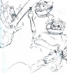 Isis Indigo character sketches by kurawolf