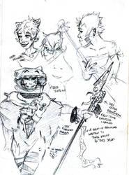 Isis Indigo sketches cont by kurawolf