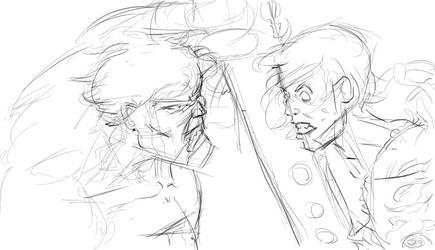 hulk versus edward sketch by kurawolf