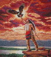 Flight of the Eagle Feather by liquidblueeyes