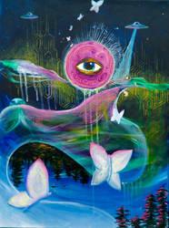 Under The Pink Moon by SilverArrowArt