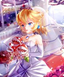 Wedding Princes Peach by Enmanuelart20