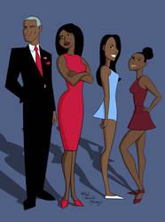 The Obamas by Digital-Jedi