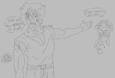 The continuatio of Raditz saying ash little old me by ParadiseofDarkness