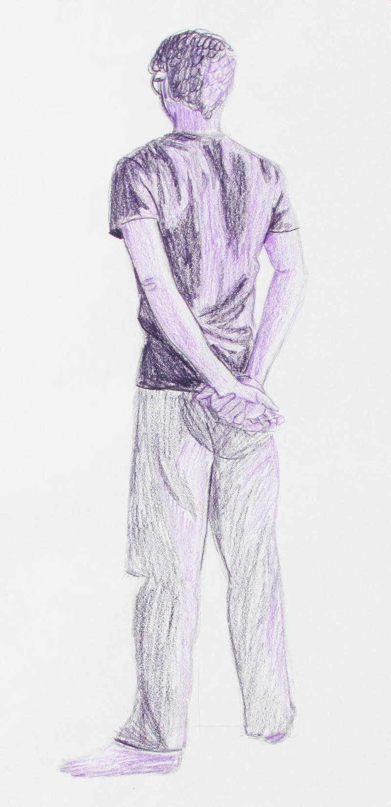 Man Figure Drawing by Xandoval