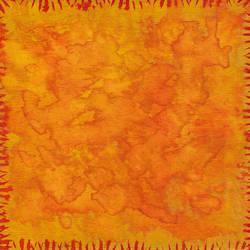 Orange Abstract Watercolor by Xandoval