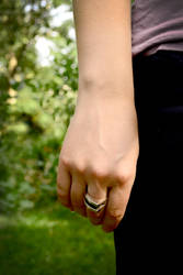 Statement Double Peak Sterling Silver Ring-Model by Abish-Essentials