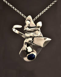 Embrace Sterling Silver and Lapis Necklace by Abish-Essentials