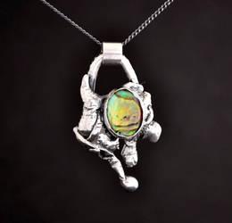 Sterling Silver Paua Shell Pendant by Abish-Essentials