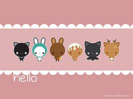 Hello Wallpaper by Keito-San
