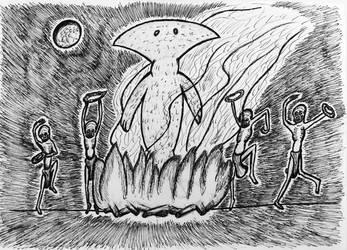 Beings of Ib dance for Bokrug idol by niggiddu