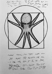 Vitruvian Octopus by niggiddu