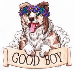 Good Boy - Border Collie by RHCP-Cream