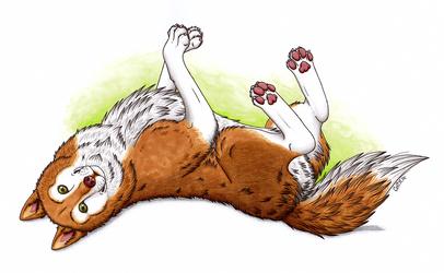 Snuggly Husky by RHCP-Cream