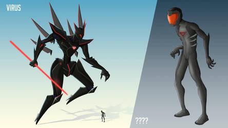 Mecha design - Virus by Malleys
