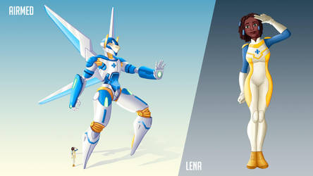 Mecha design - Airmed by Malleys