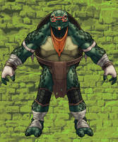 Michaelangelo Front view by monstrous64