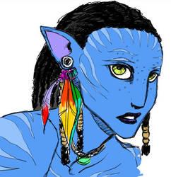 Neytiri of Avatar by azispaz