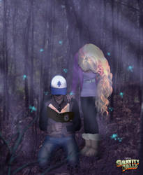 Gravity Falls Dipper x Pacifica by Sofiya123