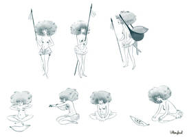 jungle girl gestures by atofu