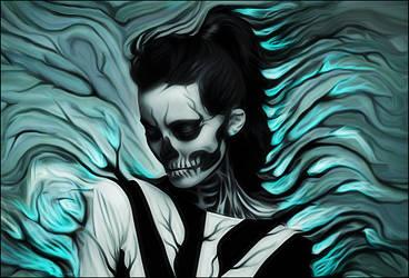 Skeleton Girl smudge(Branching out) by Pradyrk