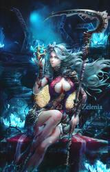Zelenia -The Goddess of the Moon by Pradyrk