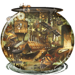 Fish Bowl Steampunk by Pradyrk